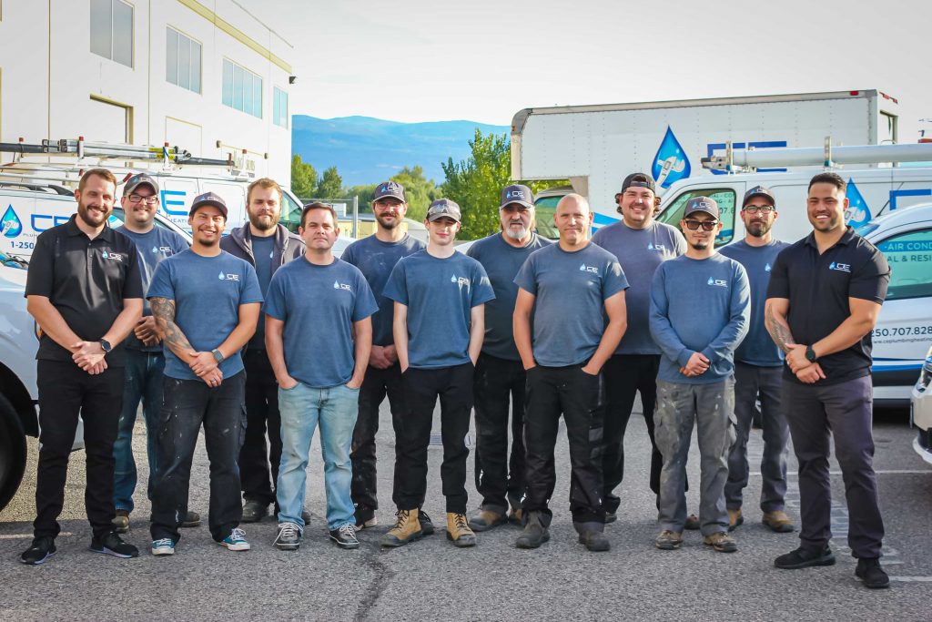 ce plumbing and heating team with trucks1